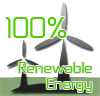 100% renewable powered